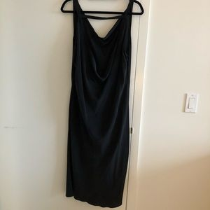 Dresses - Black Silk slip dress